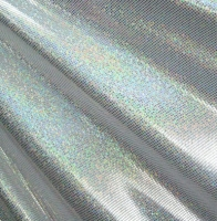 Hologram Holographic Foil Dot Spandex Covers H-1254