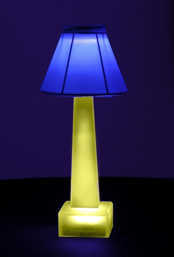 Blue & Yellow Sculptlamps Table Lamp