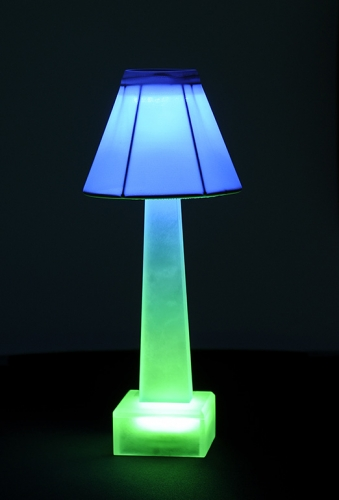 Blue & Green Sculptlamps Table Lamp
