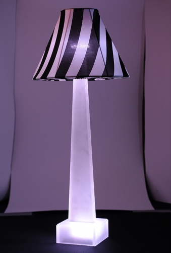 Night Stripes Sculptlamps Table Lamp