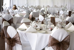 Table Covers Napkins Classy Wedding Reception Min