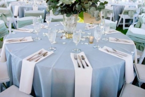 Table Covers Napkins Light Blue